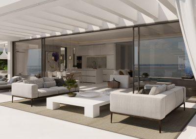 Terrace & kitchen