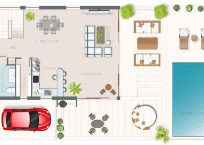 Floor Plan Villa